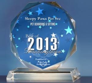 sleepy paws award